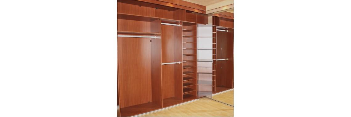BIC Shelving walk in cupboards